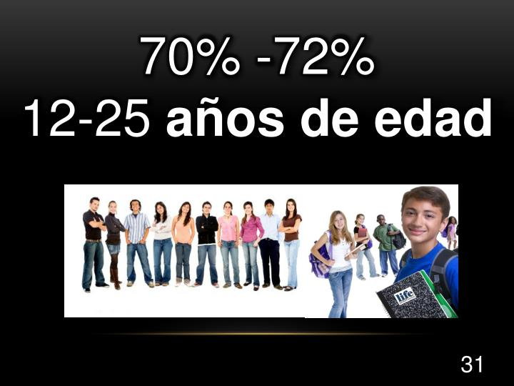 70% -72%