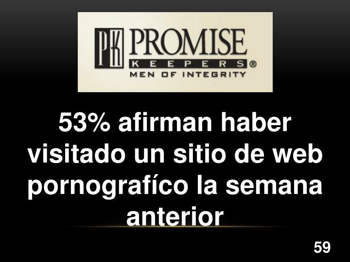 53% afirman haber visitado un sitio de web