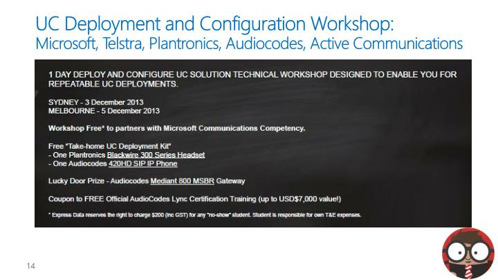 UC Deployment and Configuration Workshop: