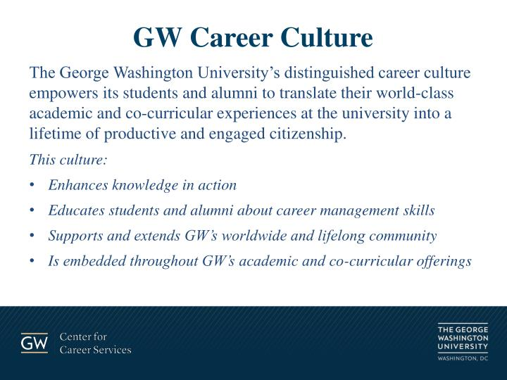 GW Career Culture