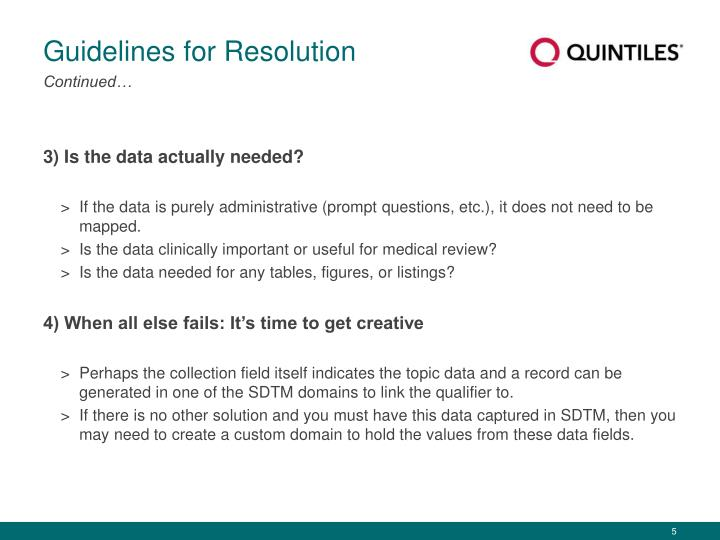 Guidelines for Resolution
