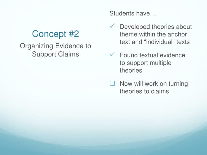 Students have…