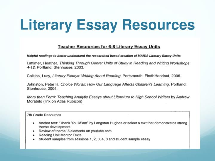 Literary Essay Resources