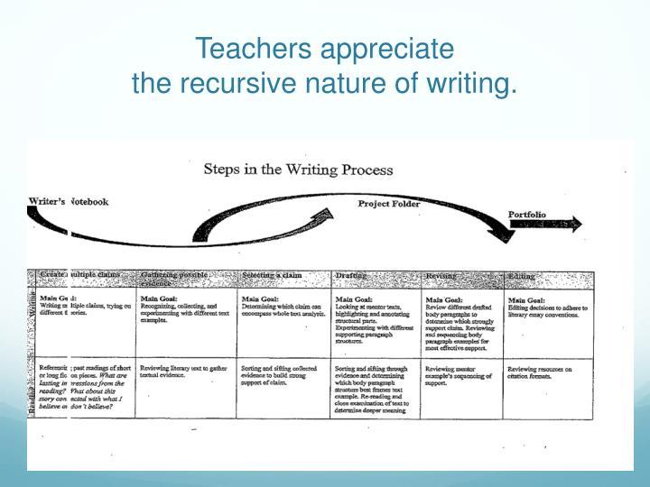 Teachers appreciate