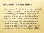 dimensions of vision values