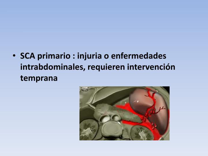 SCA primario : injuria o enfermedades