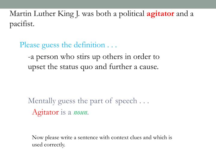 Martin Luther King J. was both a political