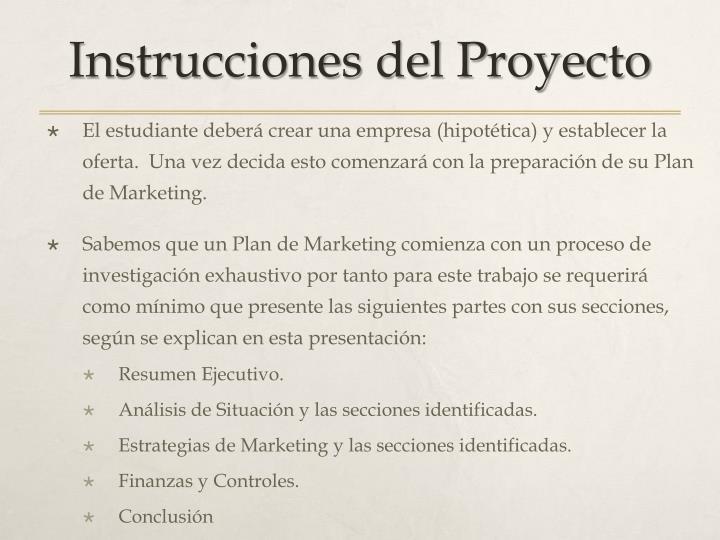 Instrucciones del Proyecto