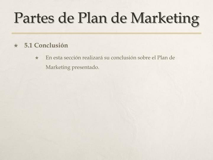 Partes de Plan de Marketing