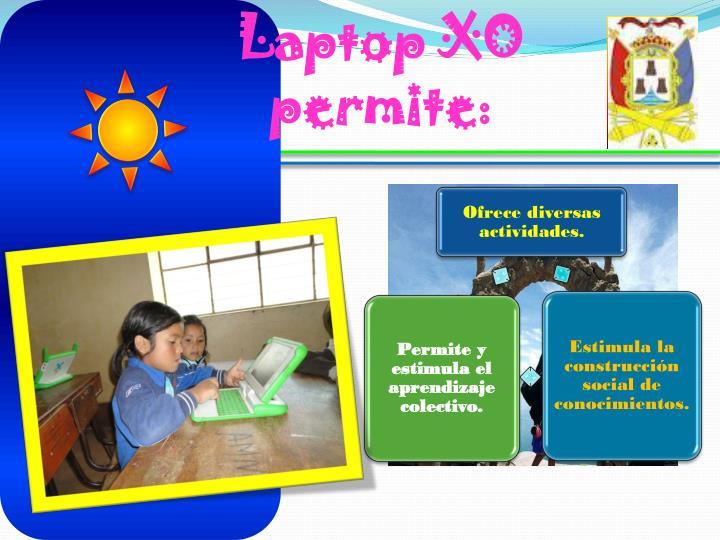 Laptop XO permite