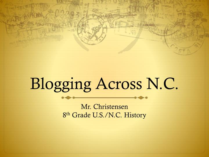 Blogging across n c