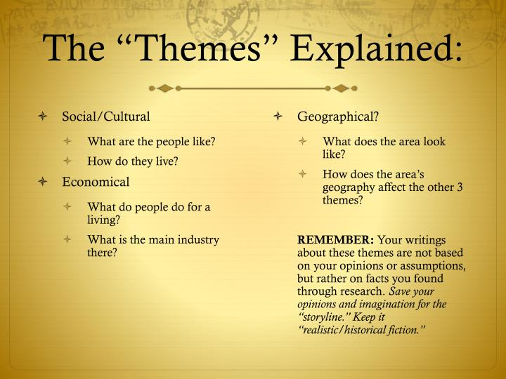 "The ""Themes"" Explained:"