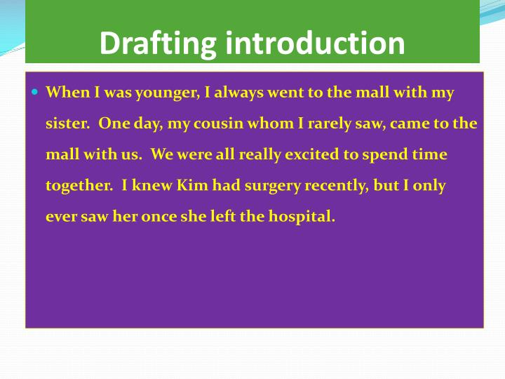 Drafting introduction