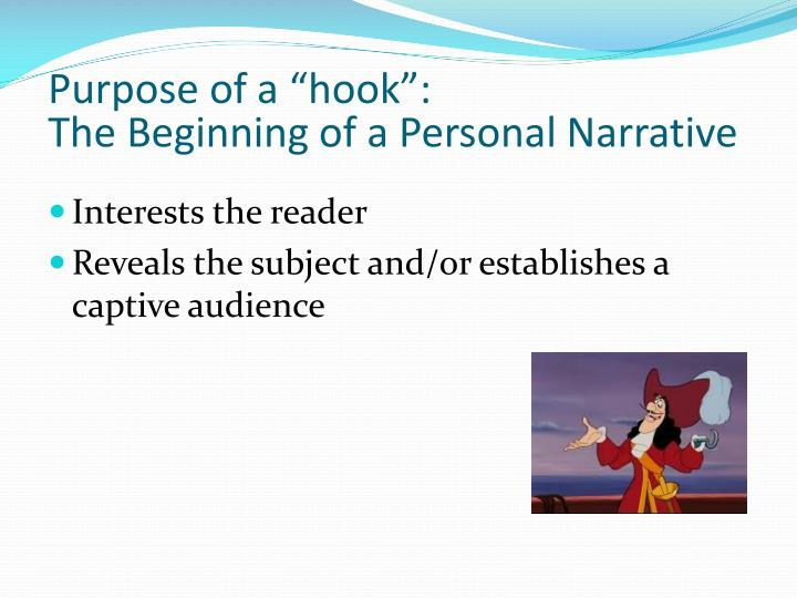 "Purpose of a ""hook"":"