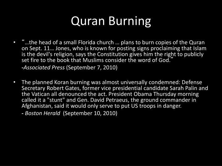 Quran Burning