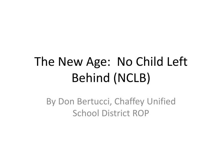 the no child left behind act No child left behind was passed in 2002 and has come under tremendous scrutiny ap the no child left behind (nclb) act has been languishing for years, and congress may now end up rewriting the law to fix its many flaws.