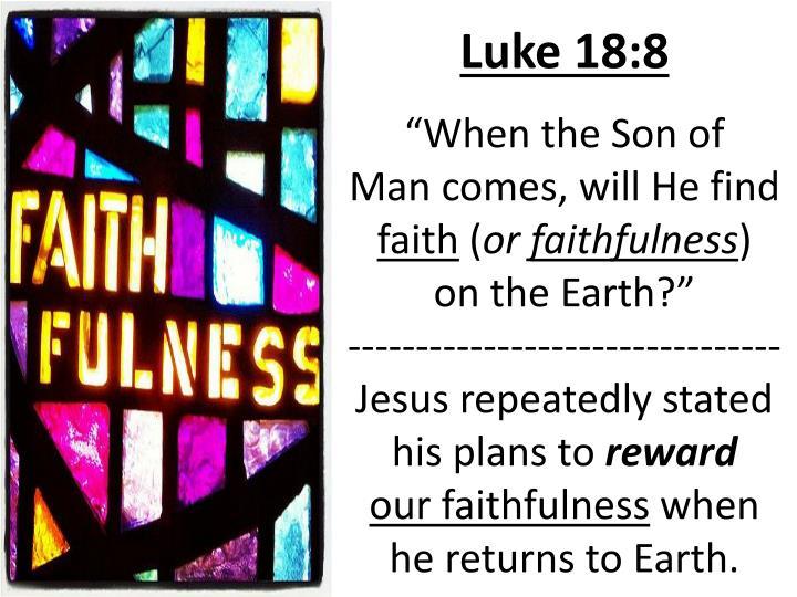 Luke 18:8