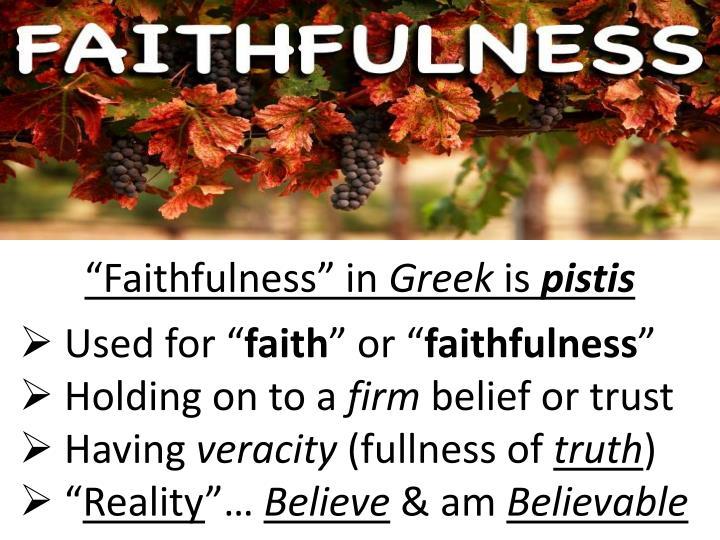"""""""Faithfulness"""" in"""