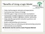 benefits of using a logic model