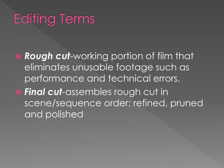 Editing Terms