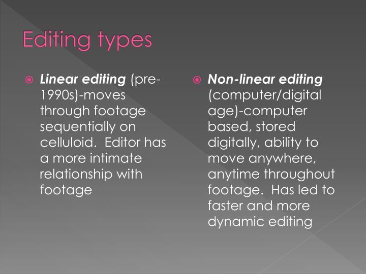 Editing types