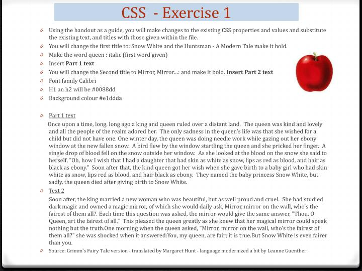 CSS  - Exercise 1