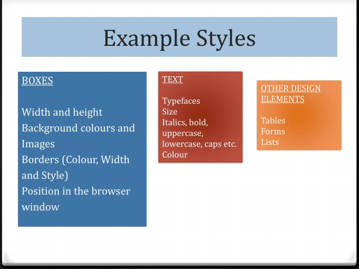 Example Styles
