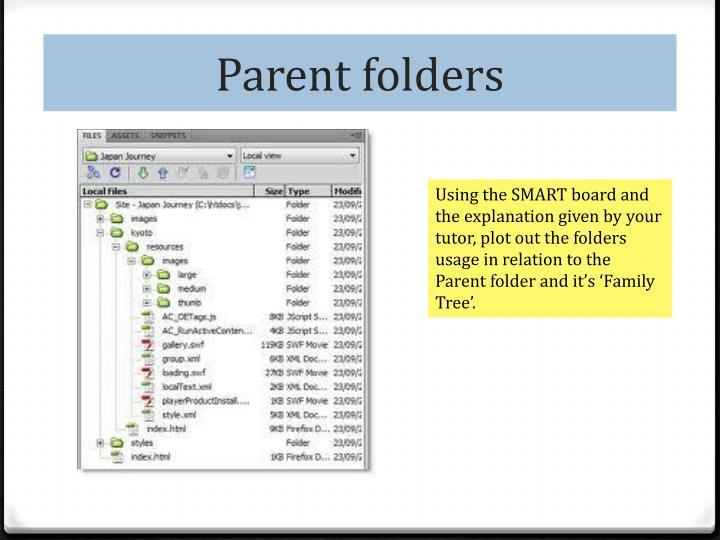 Parent folders