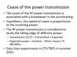 c ease of the power transmission