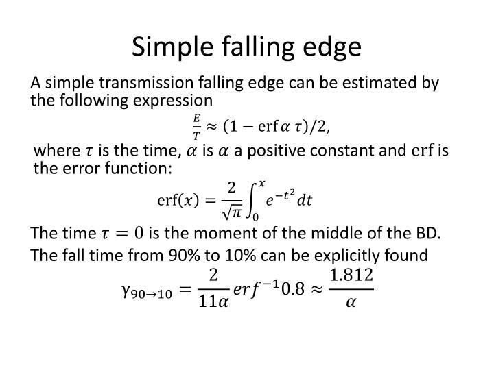 Simple falling edge