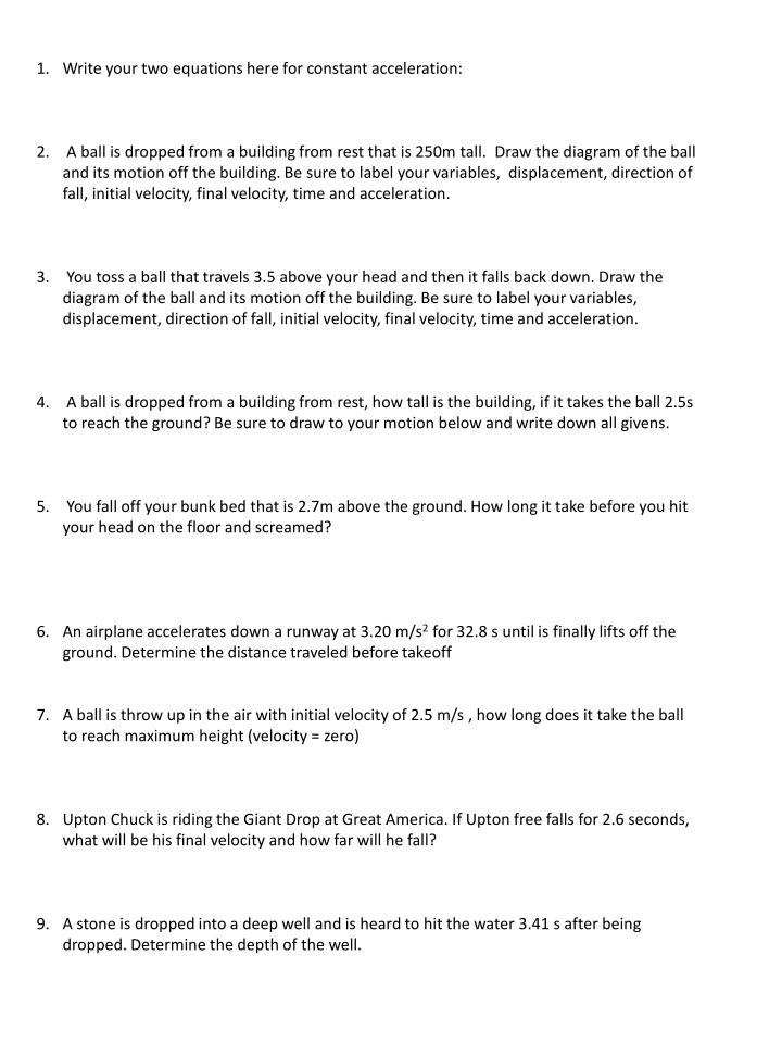 Acceleration Worksheets Free Worksheets Library – Universal Gravitation Worksheet