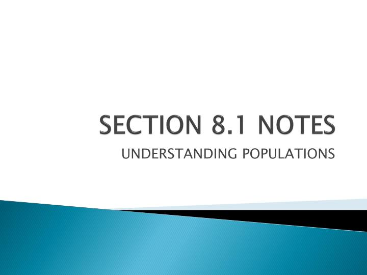 Section 8 1 notes
