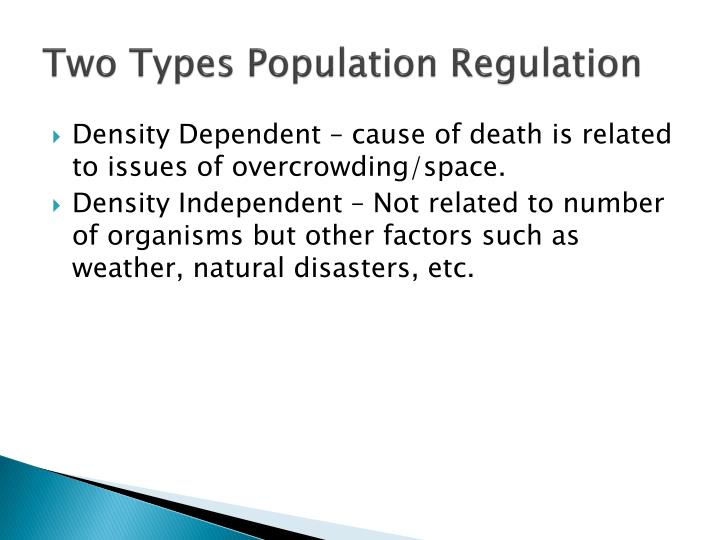 Two Types Population Regulation