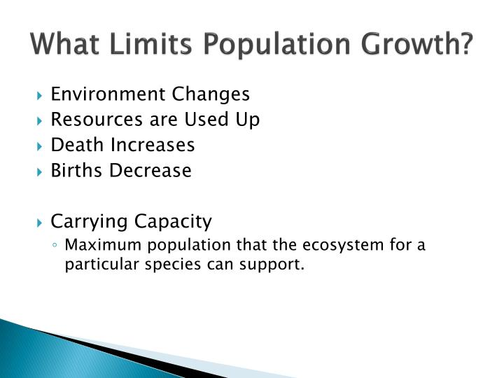 What Limits Population Growth?