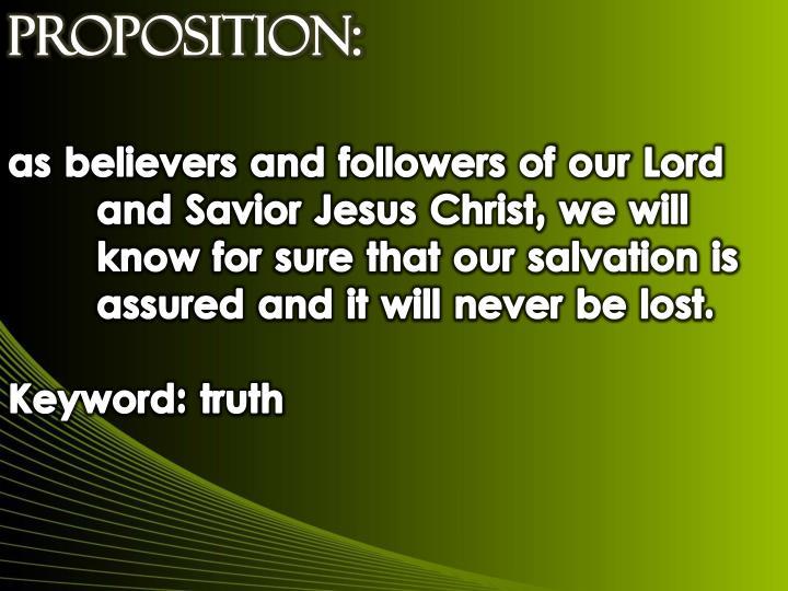 Proposition:
