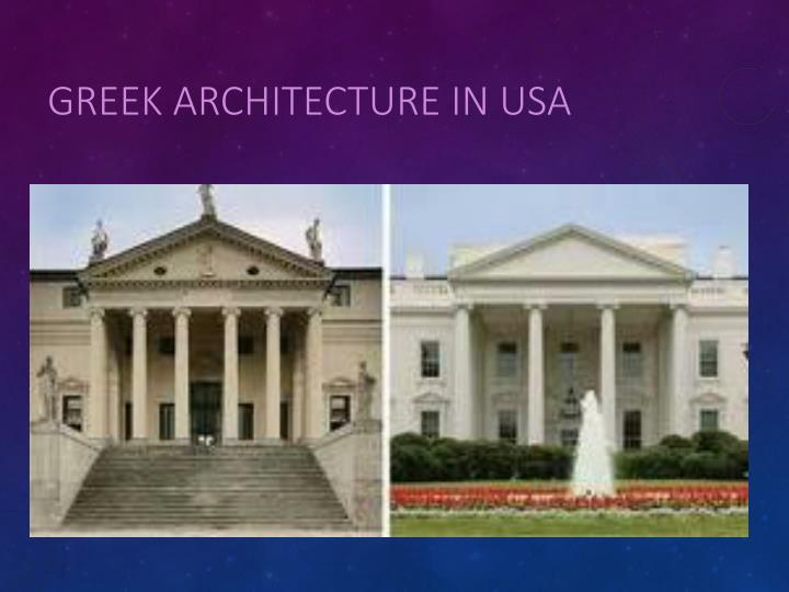 Greek Architecture in USA