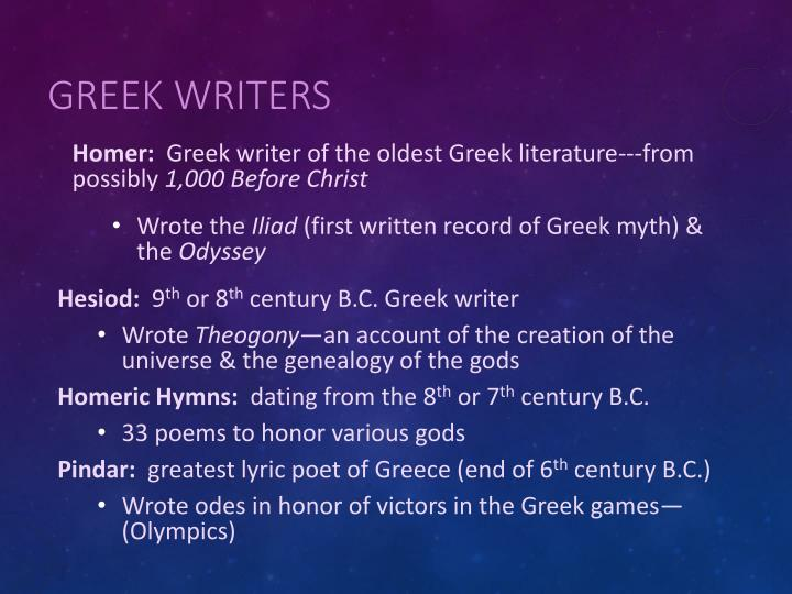 Greek Writers