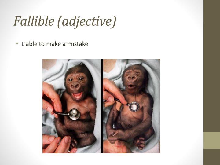 Fallible (adjective)