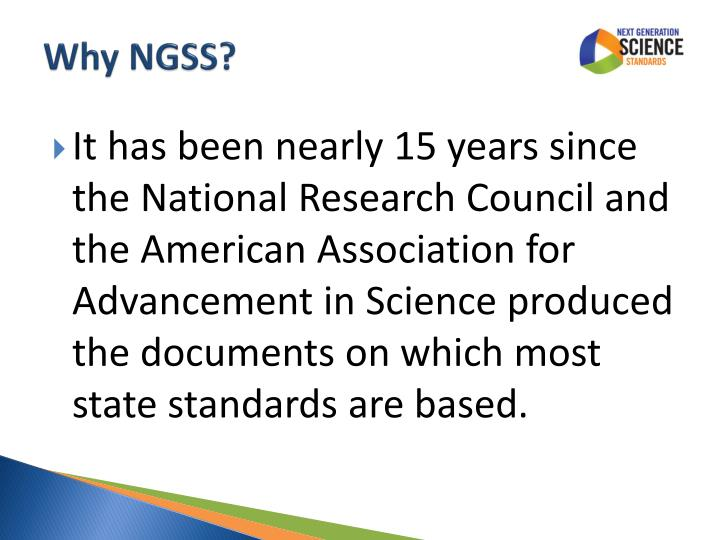 Why NGSS?