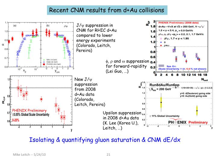 Recent CNM results from d+Au collisions