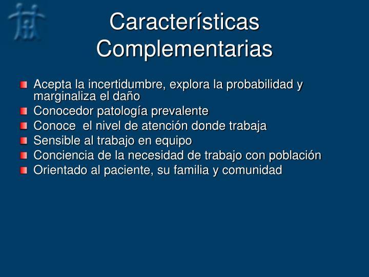 Características Complementarias