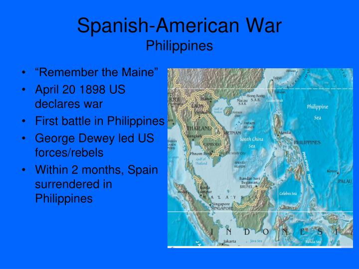 spanish american war and philippine revolution battle At the time of the war with spain, filipino revolutionaries were trying to establish  an independent nation they fought u s soldiers after the spanish american  war ended  in battle at paete, five north dakota soldiers were killed in action.