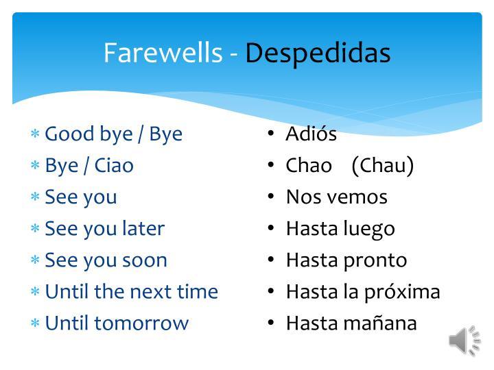 Farewells -