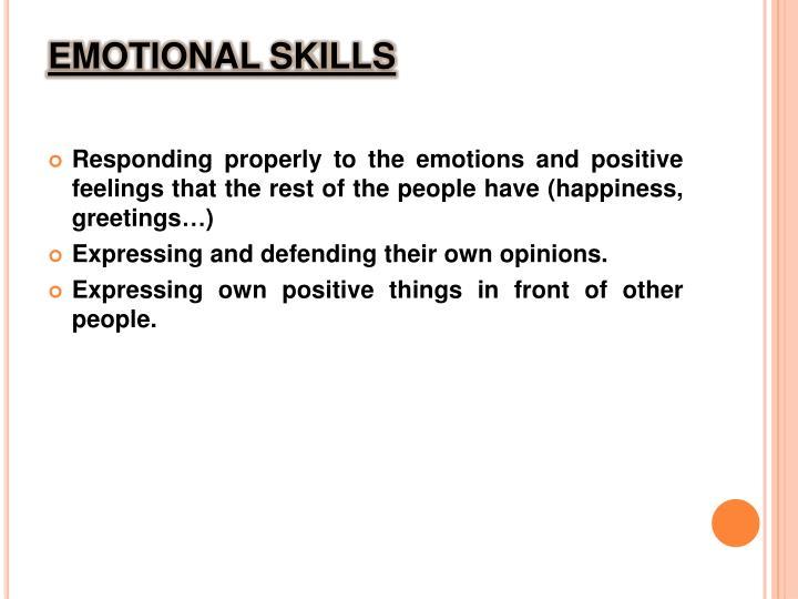 EMOTIONAL SKILLS