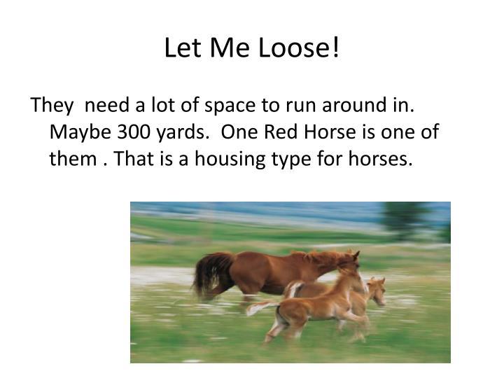 Let Me Loose!