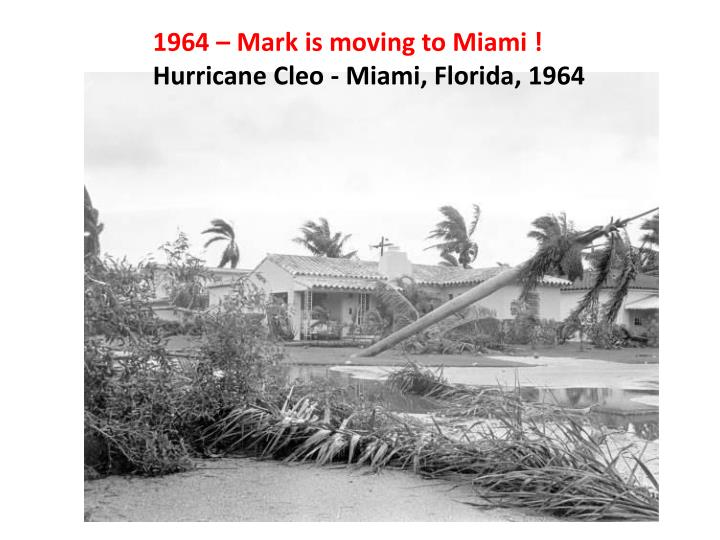 1964 – Mark is moving to Miami !