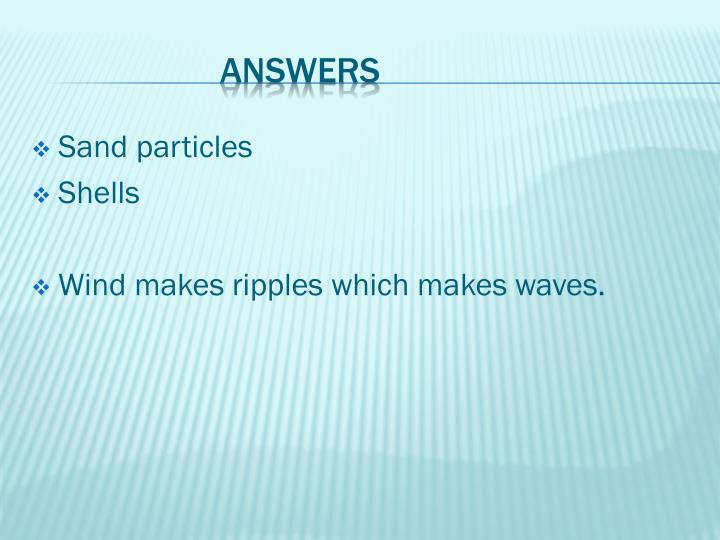 Sand particles