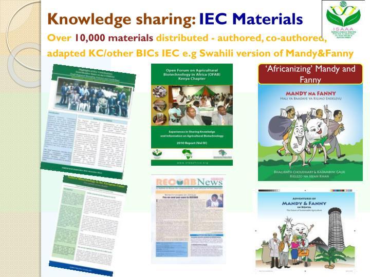 Knowledge sharing:
