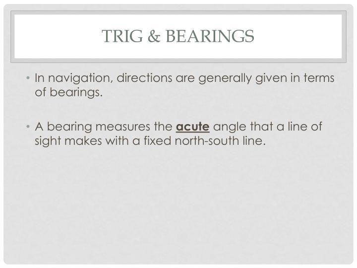 Trig & Bearings