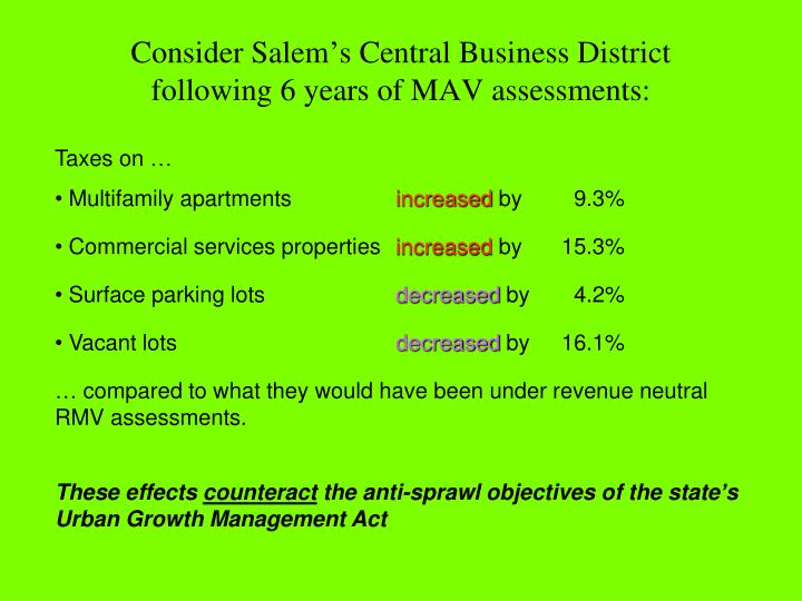 Consider Salem's Central Business District